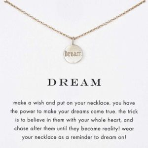Dogeared Dream Necklace Sterling Silver